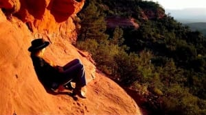 Meditation on the red rock vortexes of Sedona
