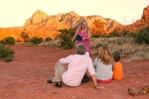 Family Retreat session in the Red Rock Vortexes