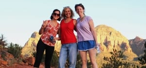 Girlfriends at Boynton Canyon for our personal retreats