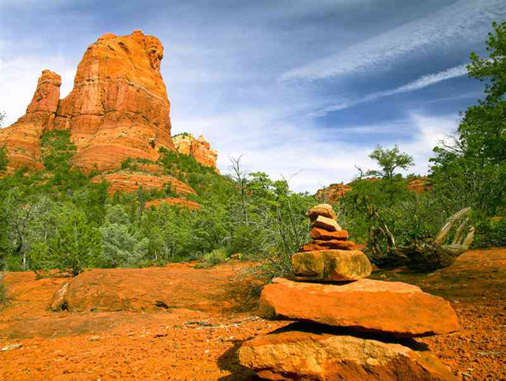 Sedona, AZ is well know for Prayer Rocks throughout the sacred vortexes.