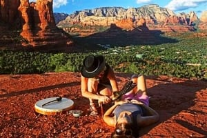 Cord cutting on the vortex rocks in Sedona with SpritQuest