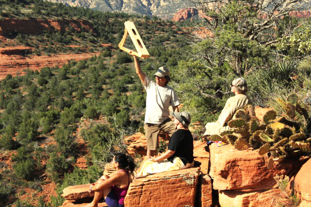 SpiritQuest Sedona Retreats Practitioner Sound Healing Session on Red Rocks